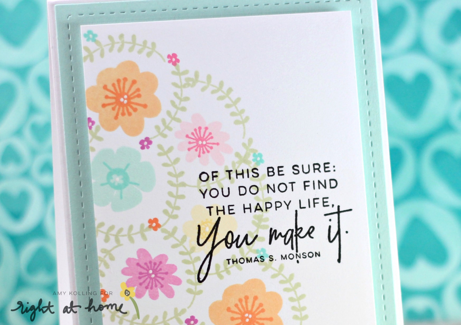 You Make It Graduation Card by Amy K. // RAH Stamps March Release - rightathomeshop.com/blog