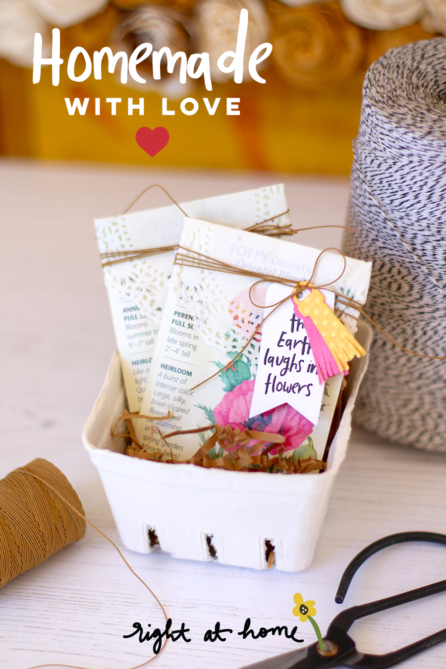 DIY Seed Packet Favors by Nicole // Homemade with Love Day #1 - rightathomeshop.com/blog