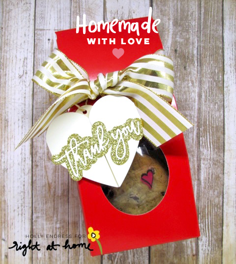 DIY Cookie Bag + Folded Heart Tag by Holly // Homemade with Love Day #4 - rightathomeshop.com