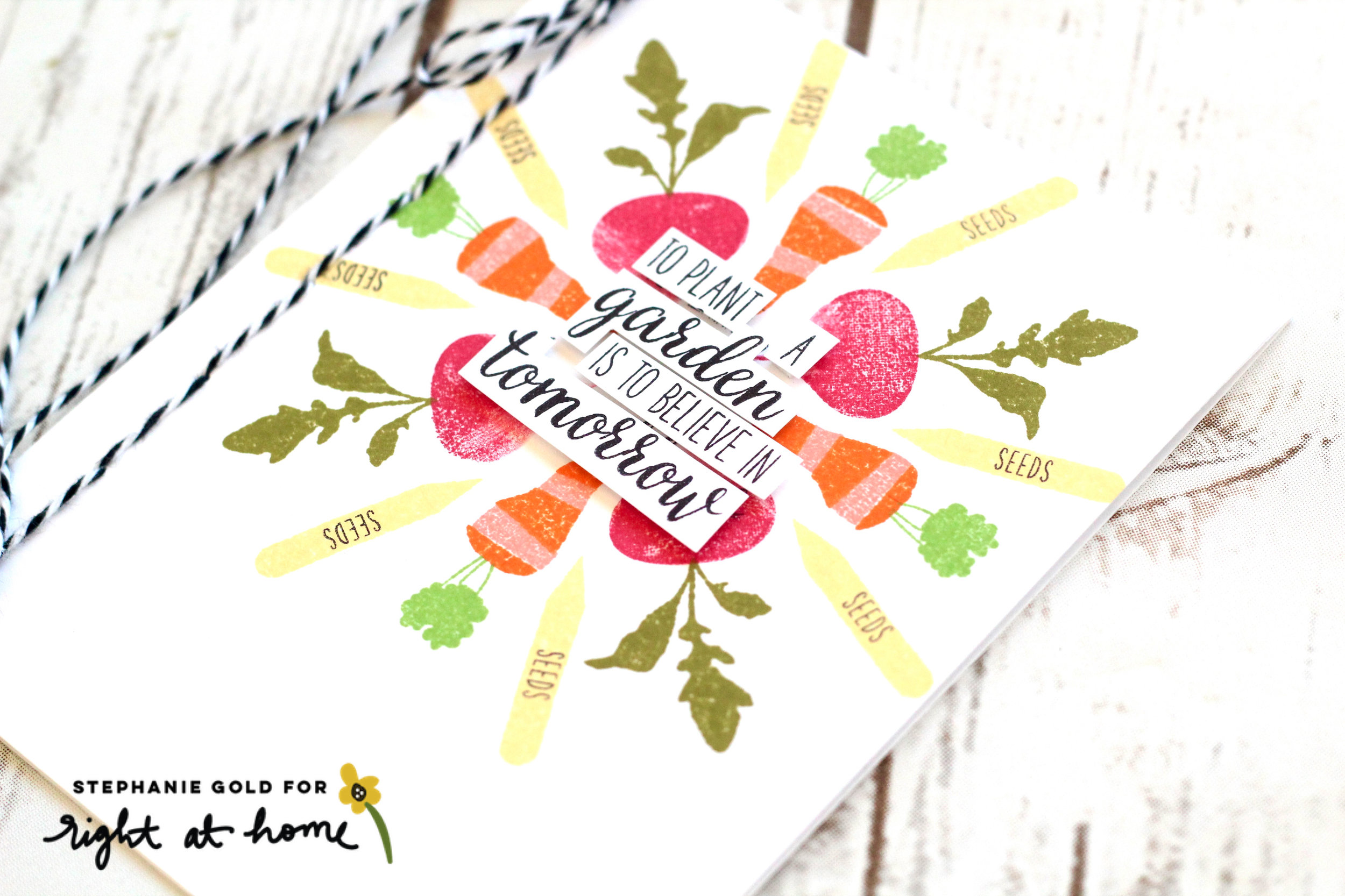 To Plant a Garden Circle Pattern Stamping Card by Stephanie G. // rightathomeshop.com/blog