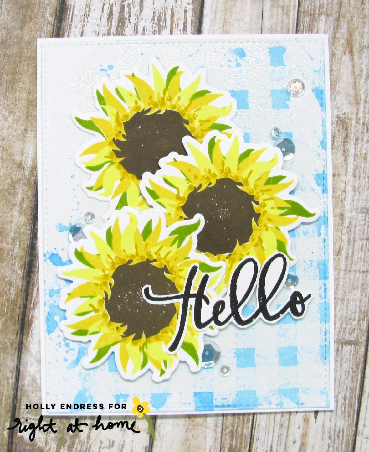 Hello Sunflower Brushstroke Alphabet Card by Holly // rightathomeshop.com/blog