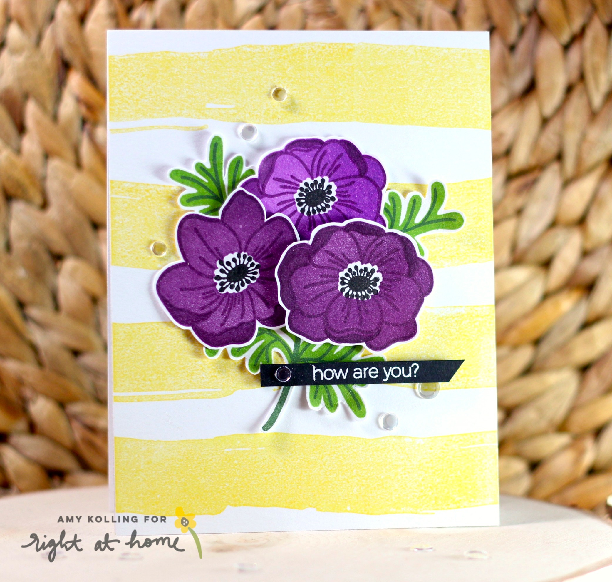 Anemone Bouquet Cards by Amy K. // rightathomeshop.com/blog