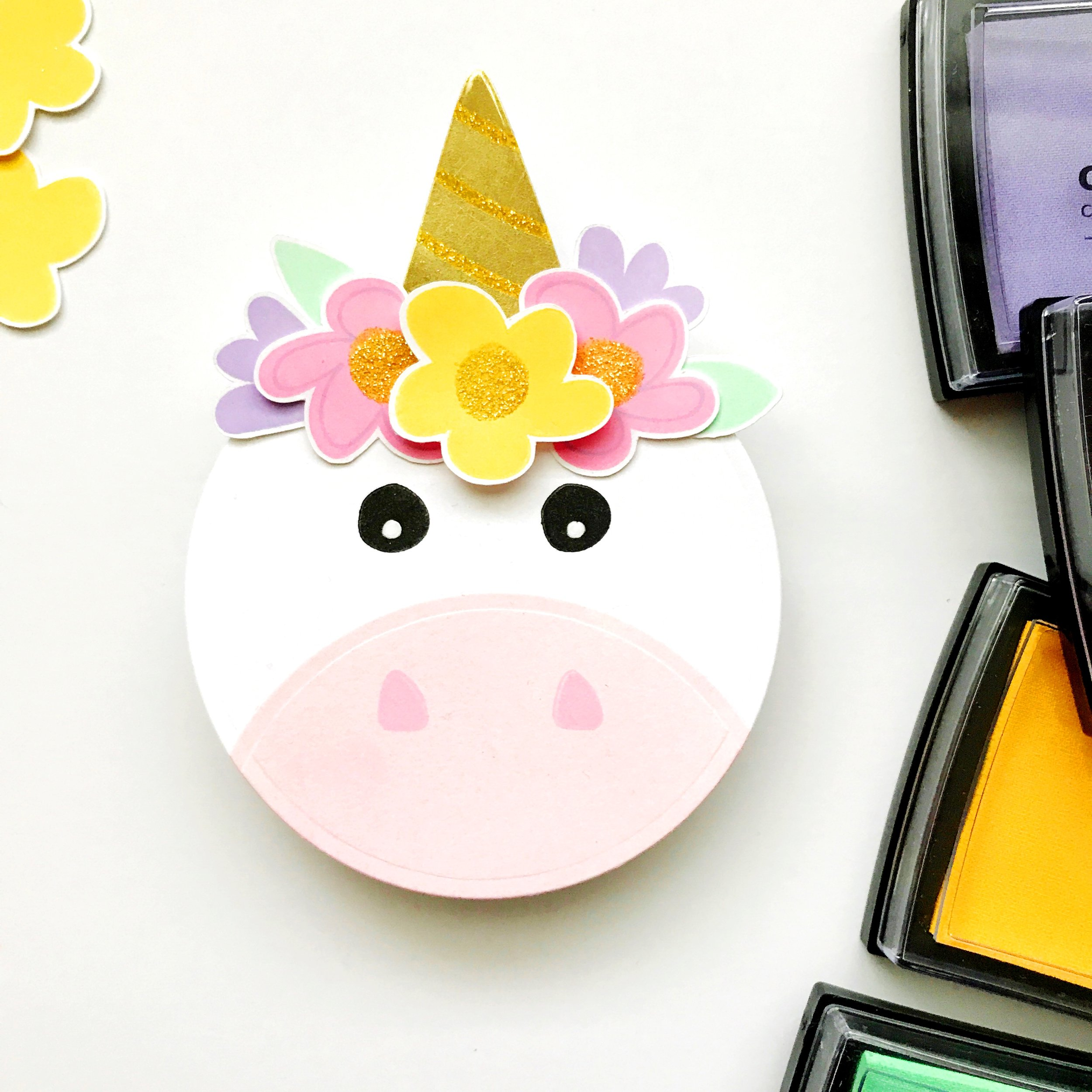 DIY Unicorn Card using Abstract Florals by Carly Tee // rightathomeshop.com/blog