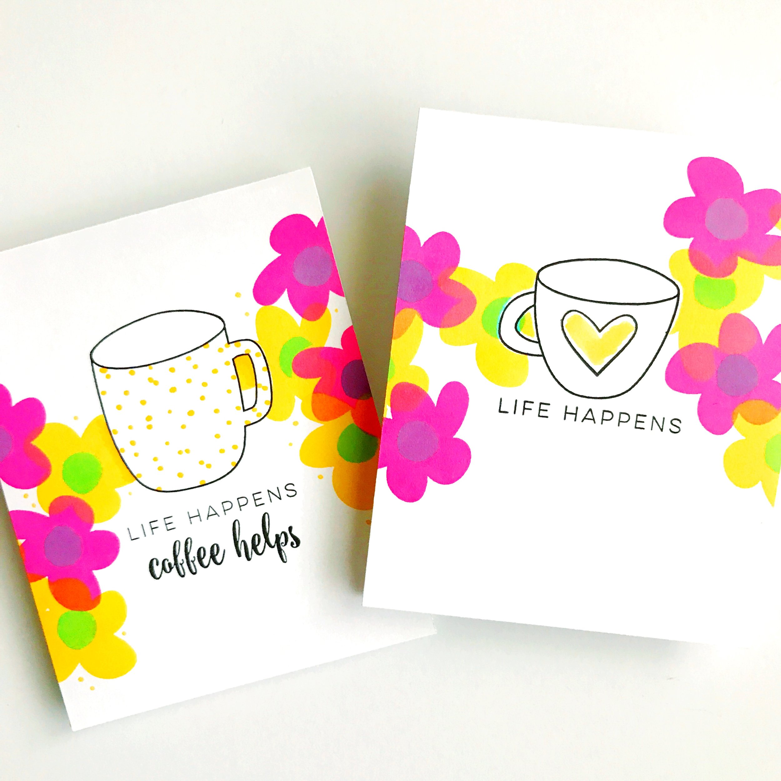 Life Happens Coffee Helps DIY Gift Card Holder Card by Carly Tee // rightathomeshop.com/blog