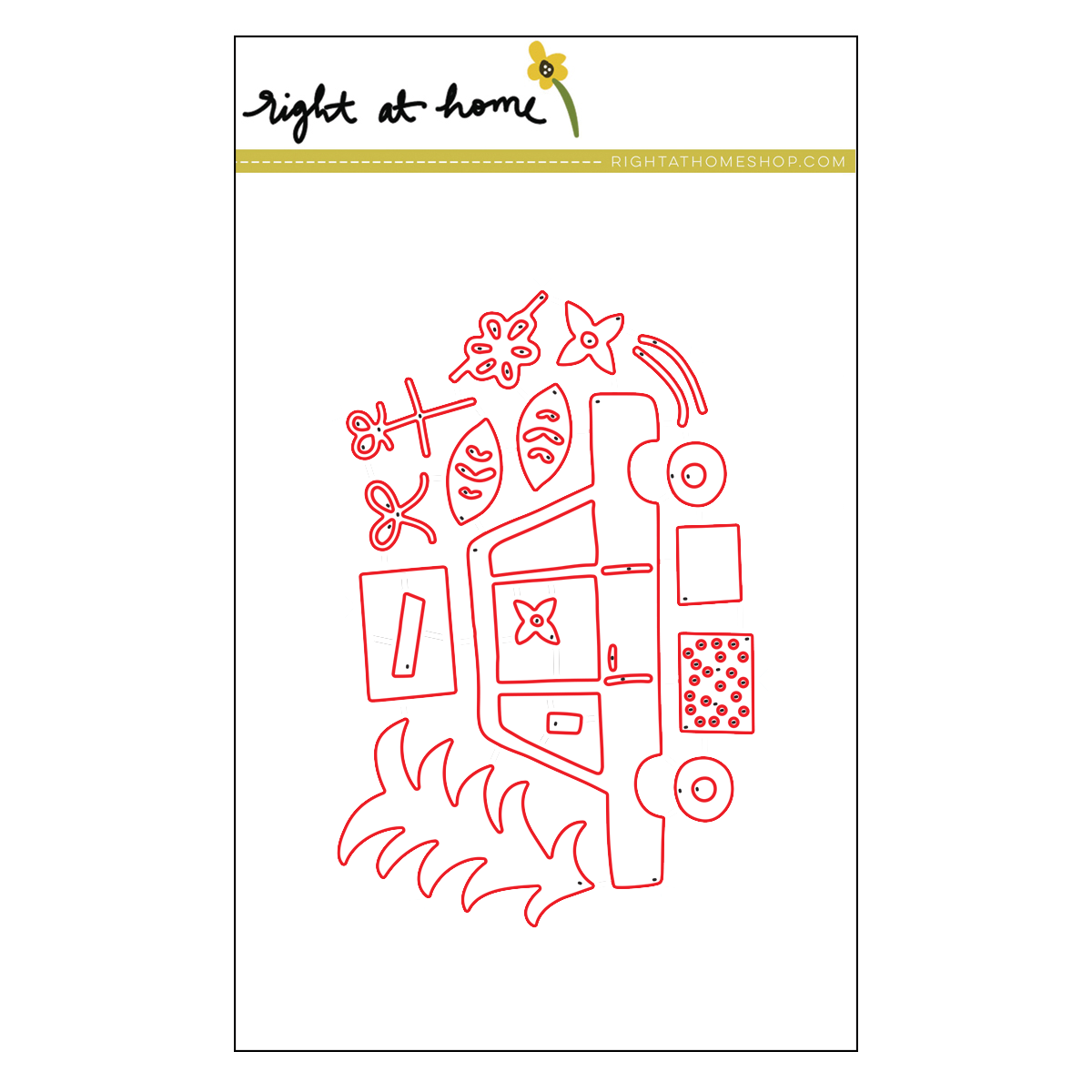 Right at Home Stamps // Holidays are on the Way Die Set (available at rightathomeshop.com)