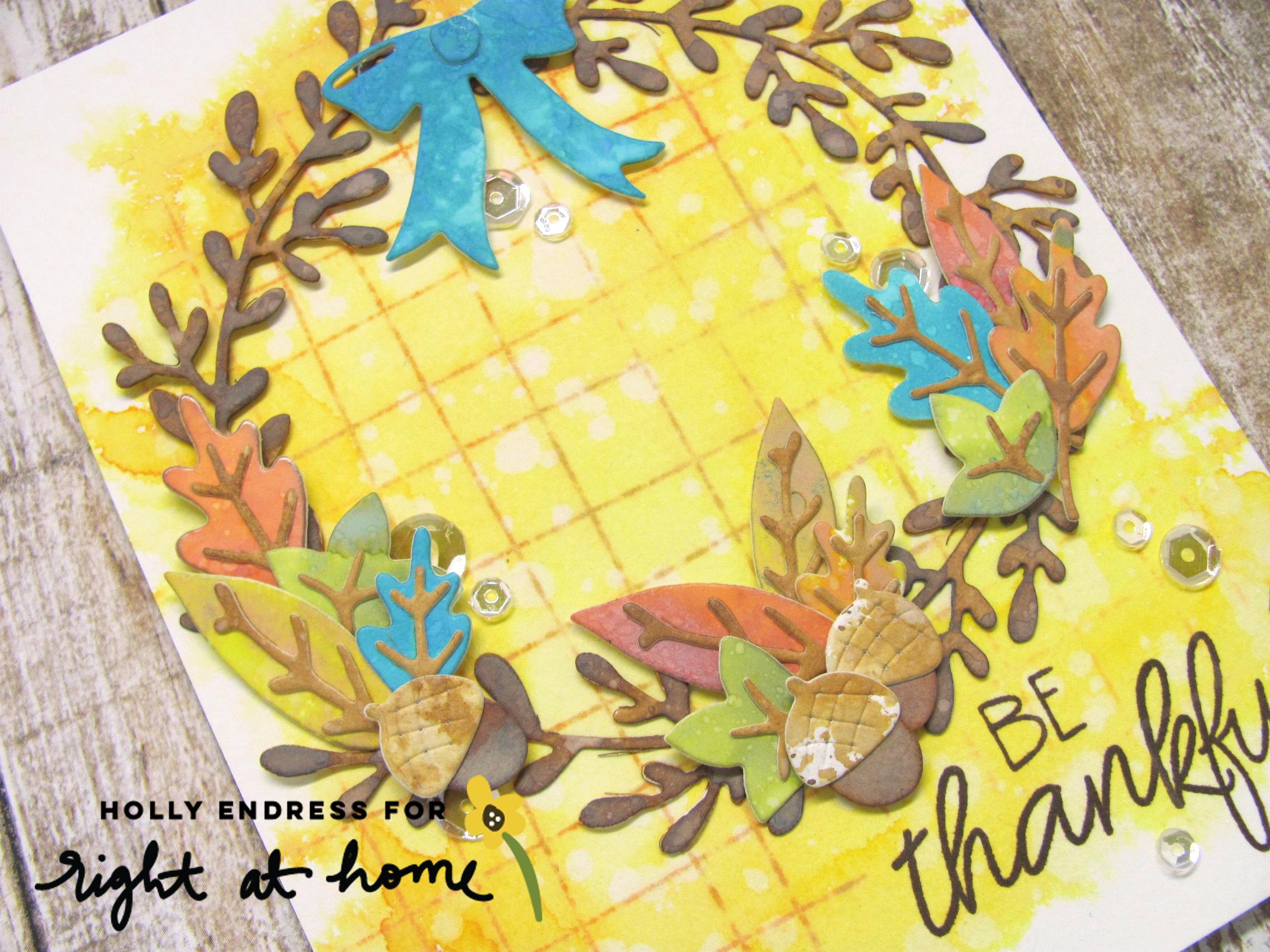 Be Thankful Seasonal Wreath Card by Holly // rightathomeshop.com/blog