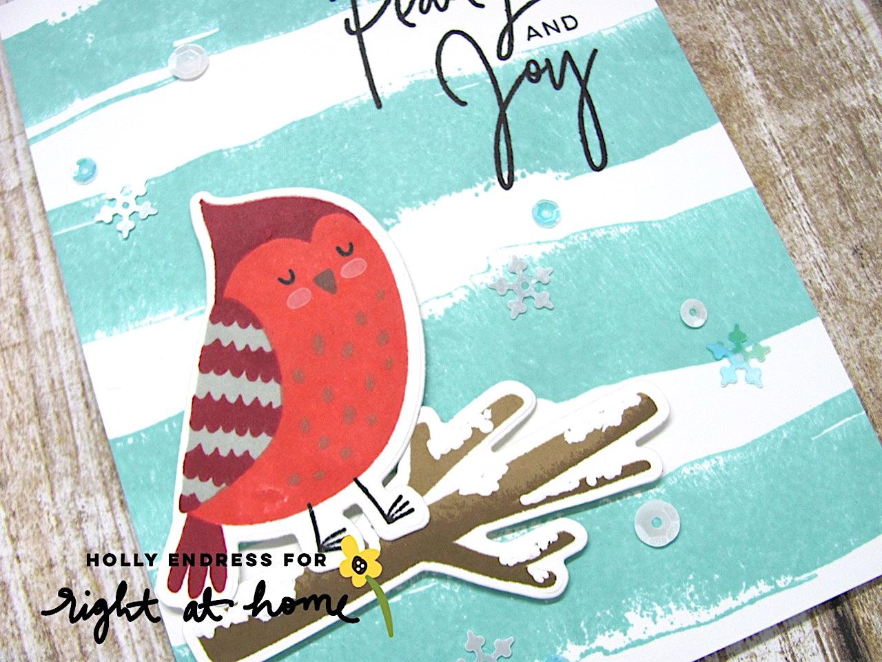 Peace Love Joy Cozy Cardinal Card by Holly // rightathomeshop.com/blog