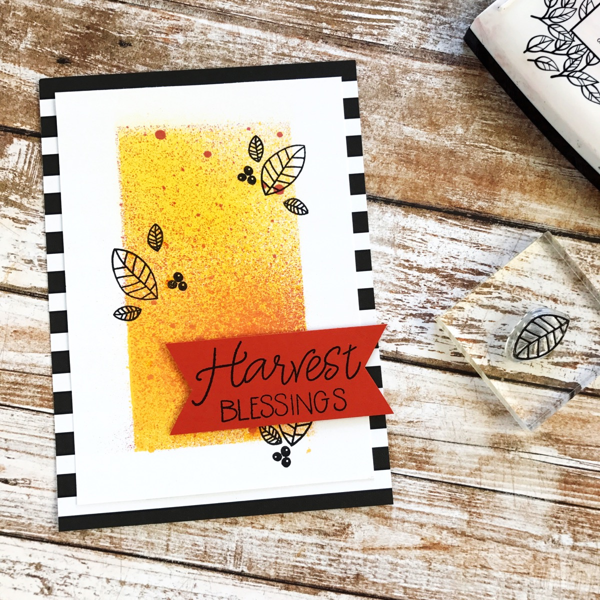 Harvest Blessings Fall Leaves Cards by Nathalie // rightathomeshop.com/blog