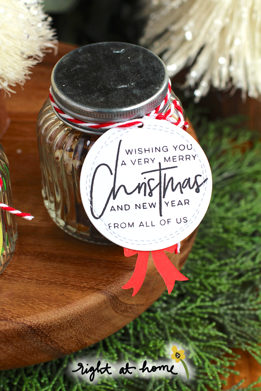 Deck the Halls Wreath Tags by Nicole // 25 Days of Christmas Tags 2017 - rightathomeshop.com/blog