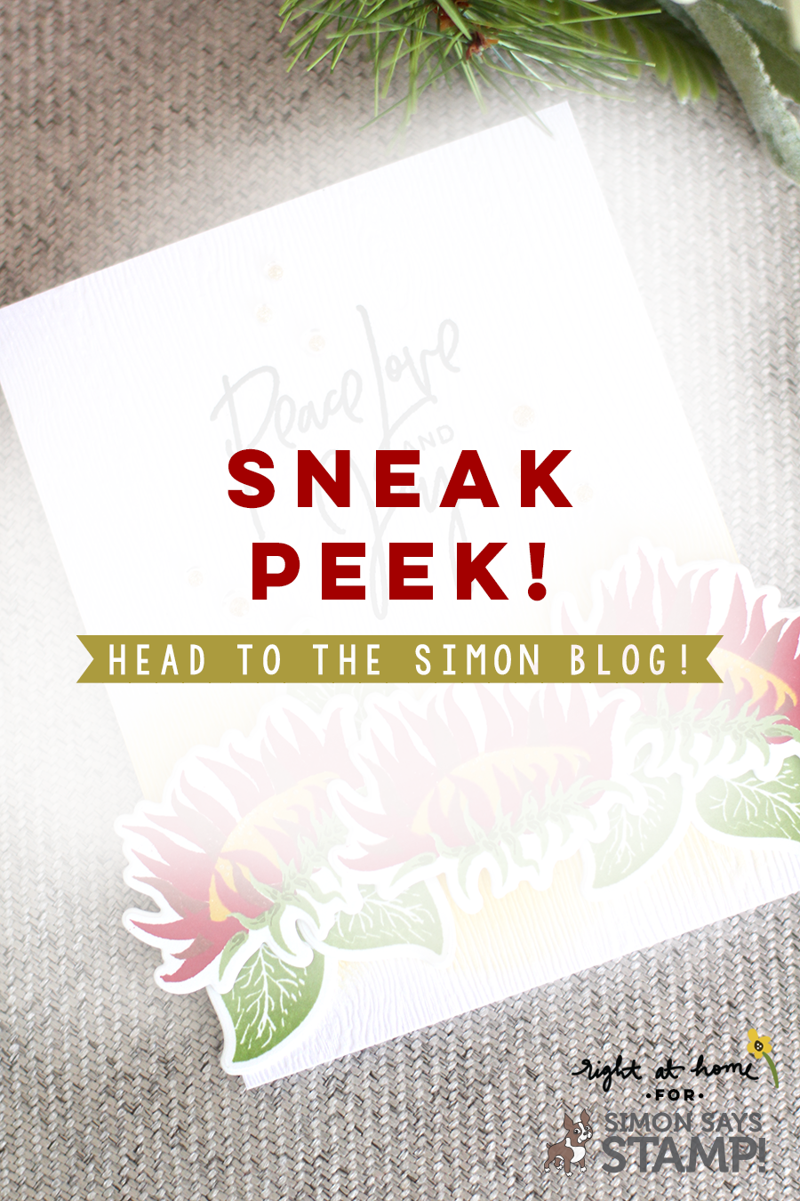 Right at Home for Simon Says Stamp Sneak Peek // Head to www.simonsaysstampblog.com for the full card!