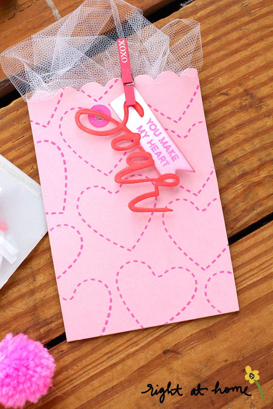 Flat Vellum + Paper Valentines Treat Bags // rightathomeshop.com/blog