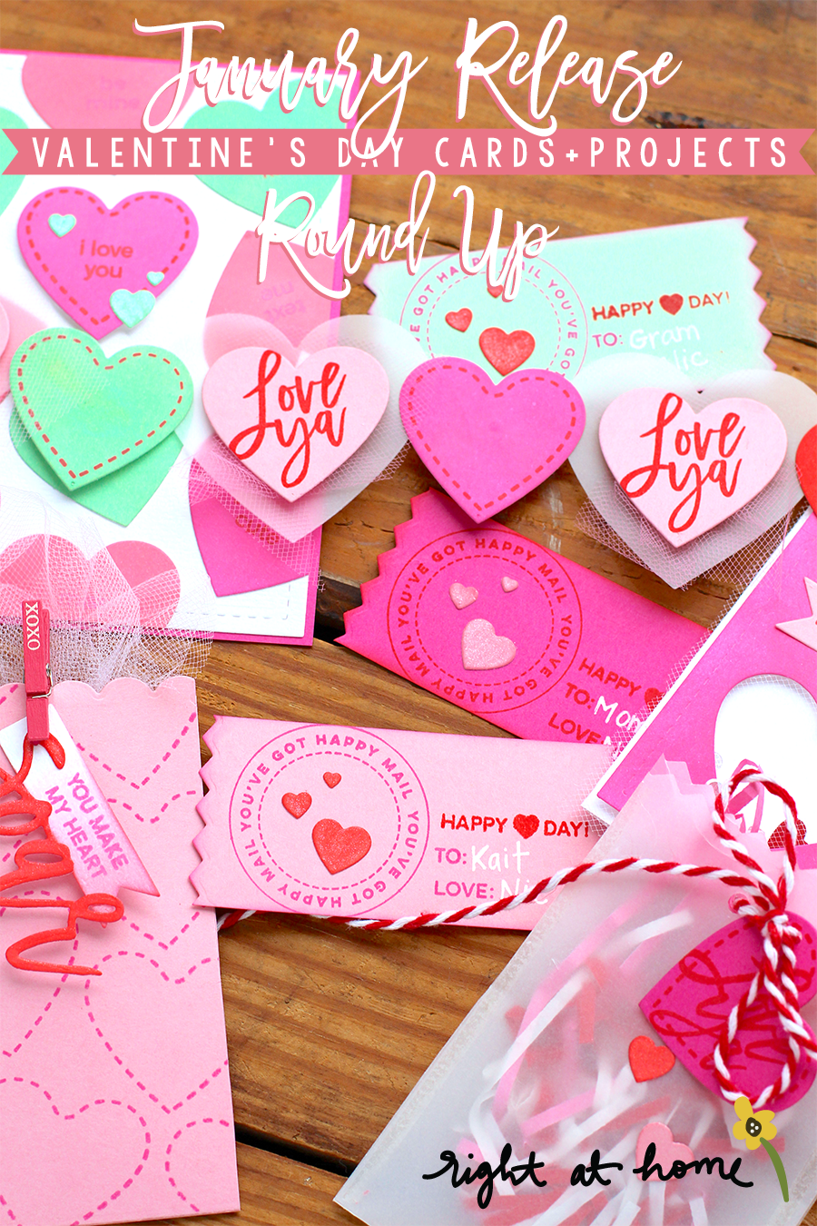 Right at Home Stamps January Release Valentine's Day Cards + Projects Round-Up // rightathomeshop.com/blog
