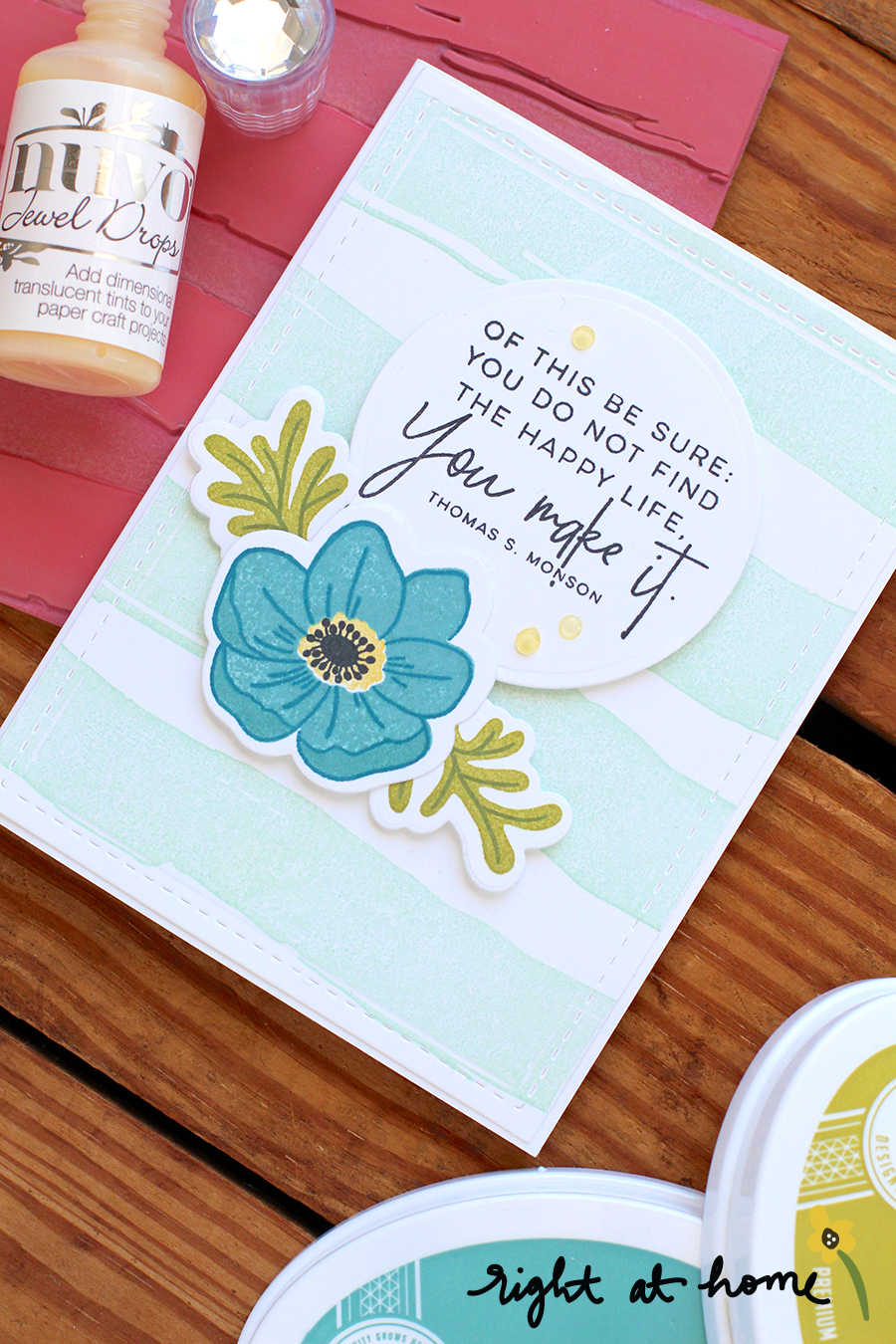 You Make A Happy Life Anemone Card // National Craft Month Celebration with Right at Home + Concord & 9th - rightathomeshop.com/blog