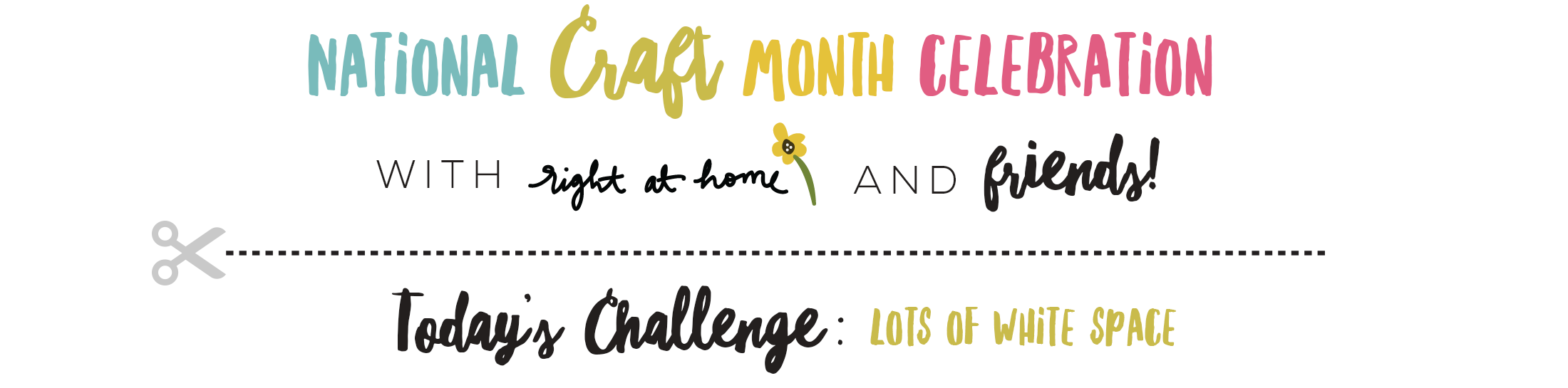 Hello Find the Beauty Clean & Simple Card // National Craft Month with Right at Home + Friends