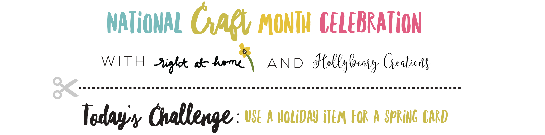 Spring Hello Cozy Cardinal Card // National Craft Month with Right at Home + Friends
