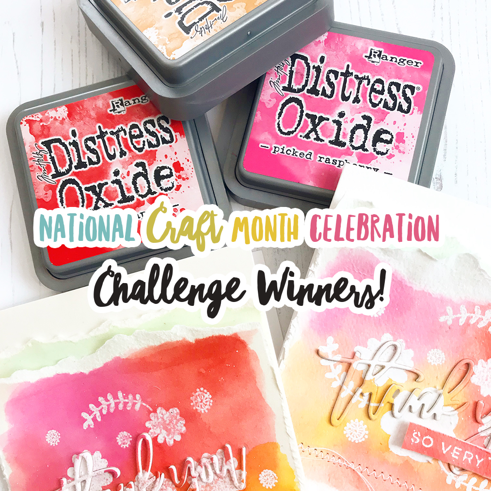 National Craft Month with Right at Home + Friends Challenge Winners!