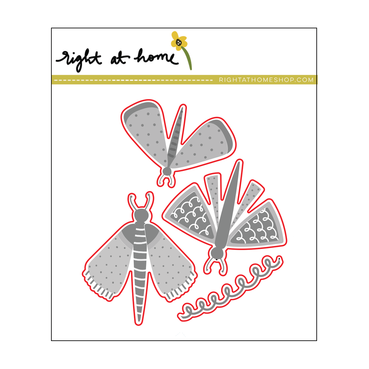 Right at Home Stamps // Fluttering By Die Set (available at rightathomeshop.com)
