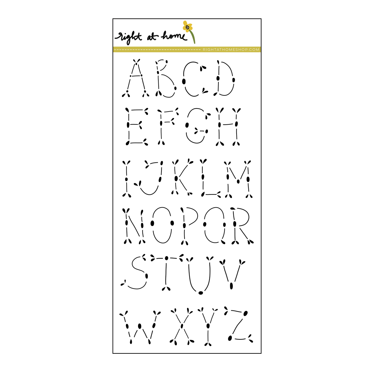 Right at Home Stamps // Folk Alphabet Detail (available at rightathomeshop.com)