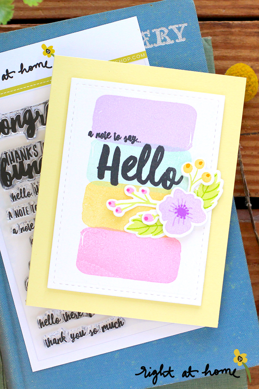 Right at Home New Release Video + Card Project // April 2018 - rightathomeshop.com/blog