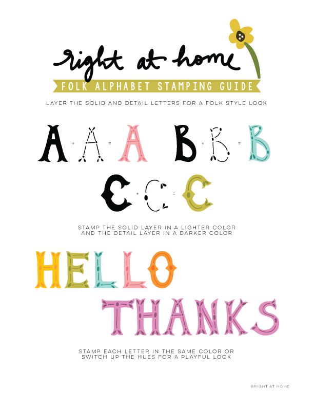 Folk Alphabet Stamping Guide