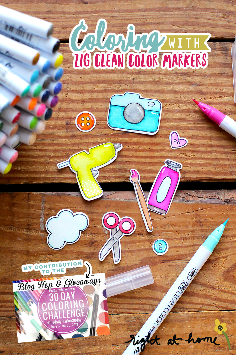 Coloring with ZIG Clean Color Real Brush Markers // The Daily Marker 30 Day Coloring Challenge