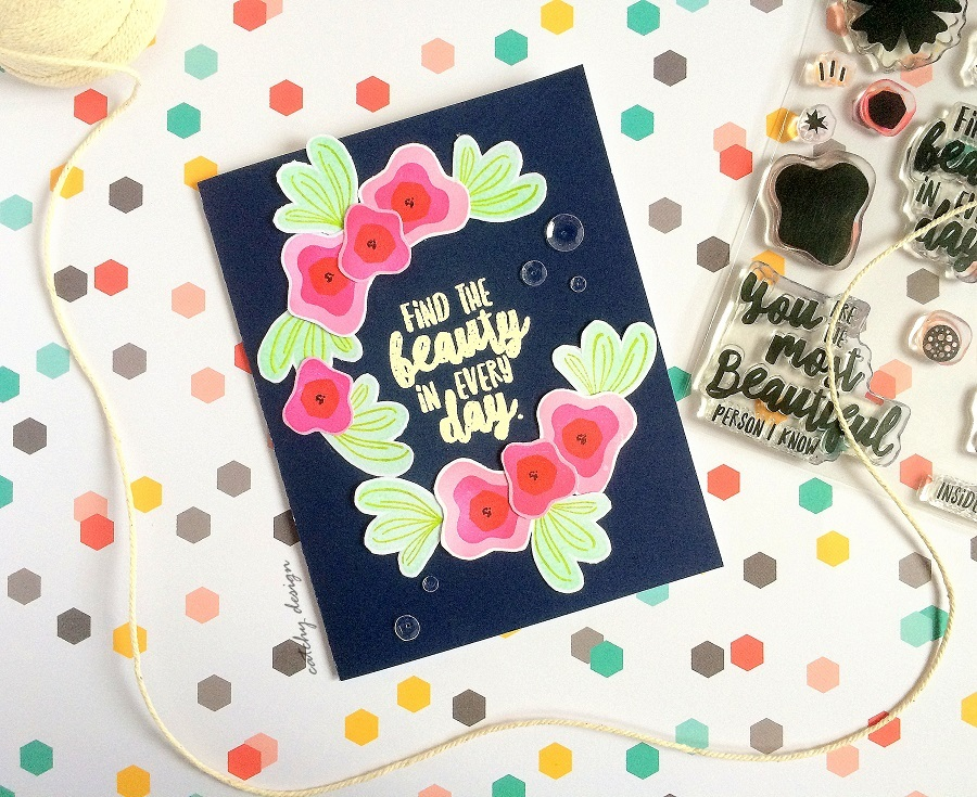 Find the Beauty Card Trio by Deepti Stephens // rightathomeshop.com/blog
