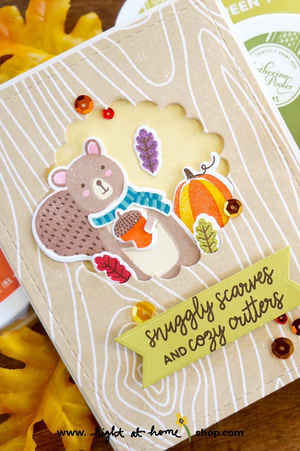 Snuggly Squirrel Tree Trunk Window Card // rightathomeshop.com/blog