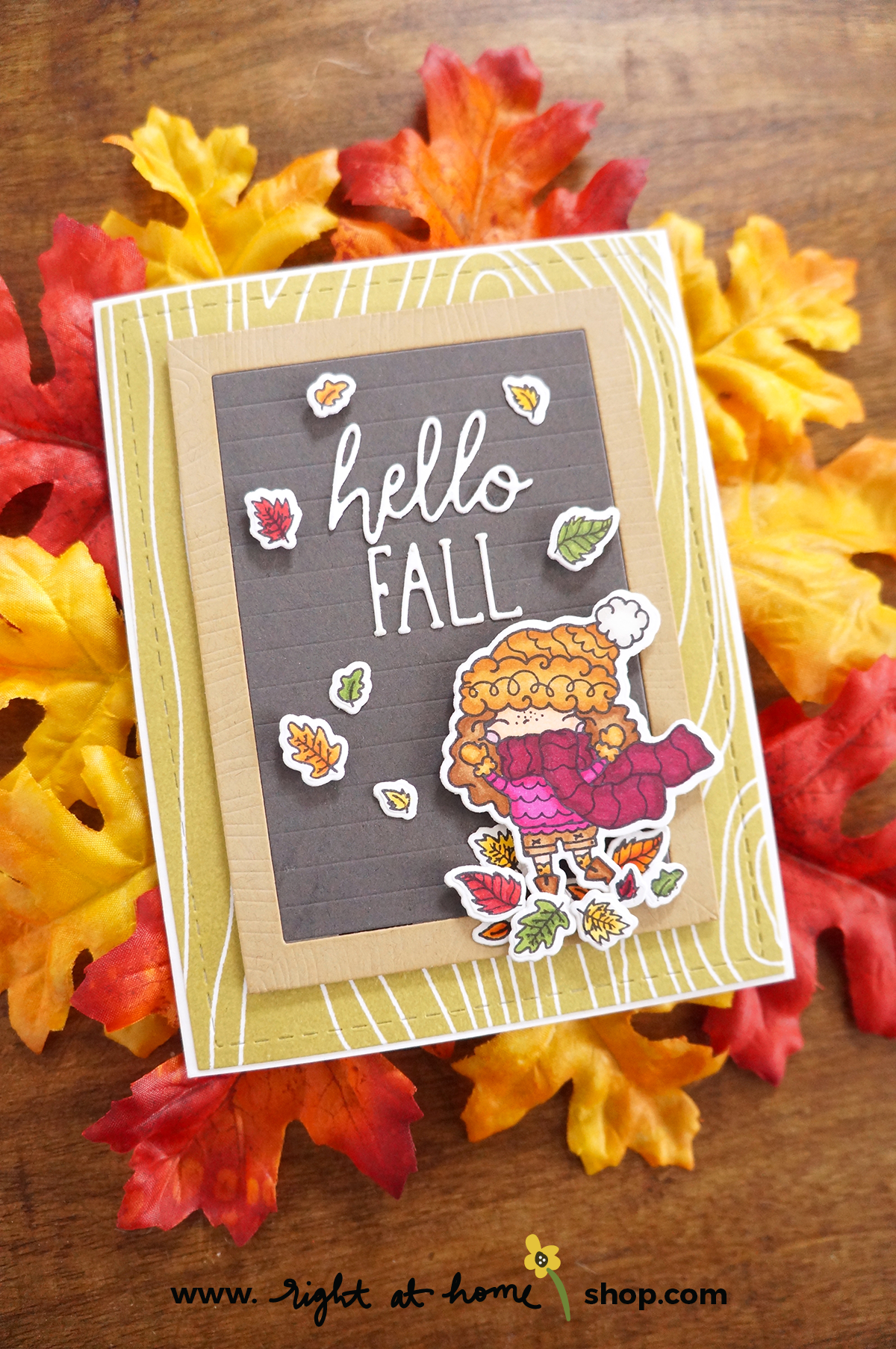 Hello Fall Pumpkin Spice Season Letterboard Card // rightathomeshop.com/blog