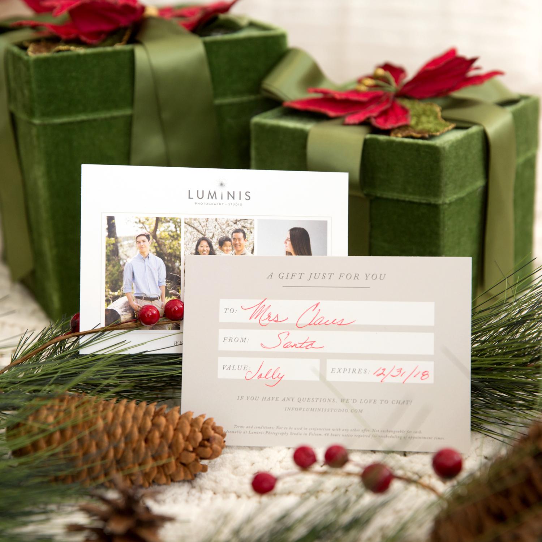 luminis studio gift card holiday