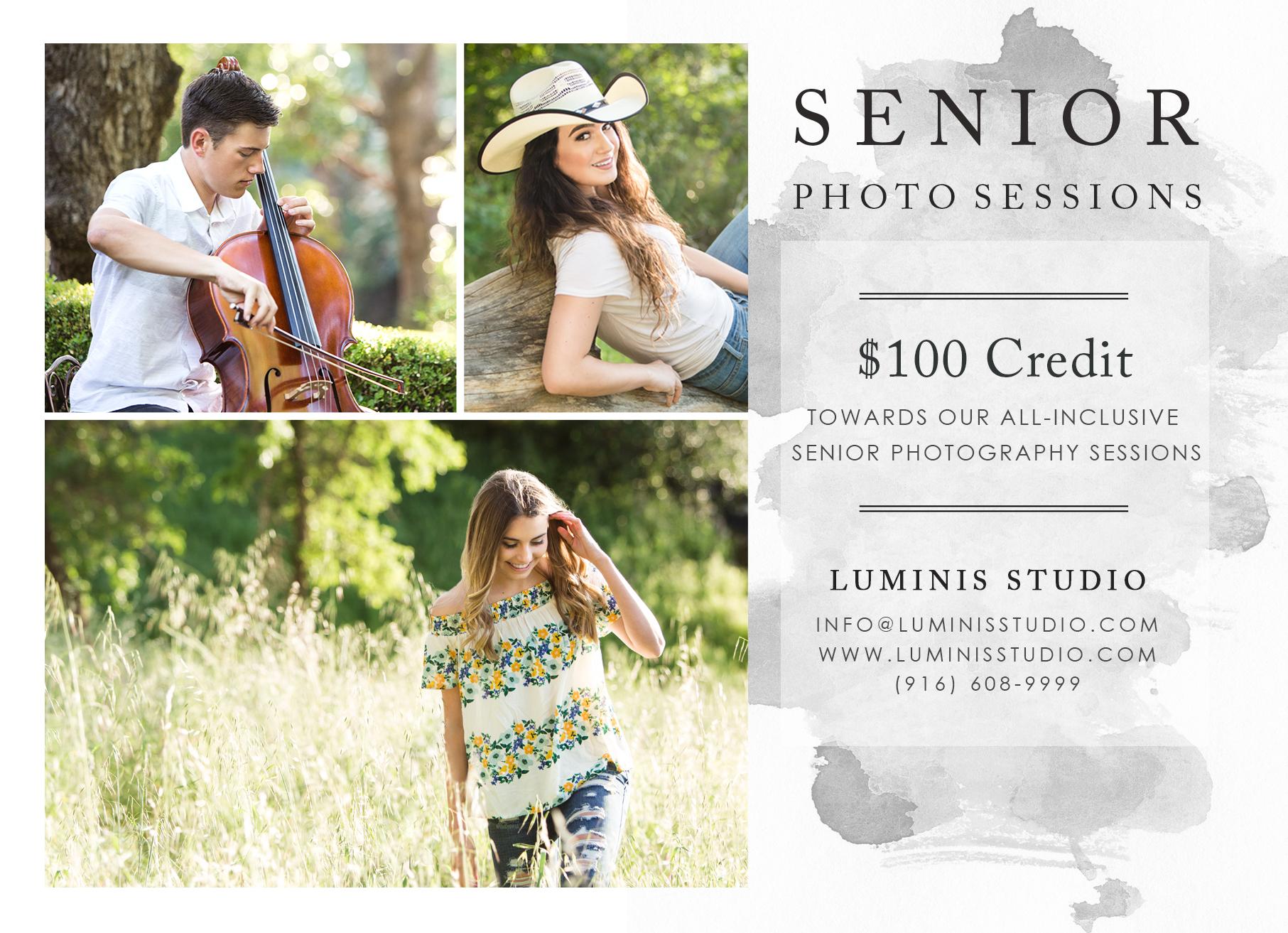 Folsom CA Senior Photographer Luminis Studio