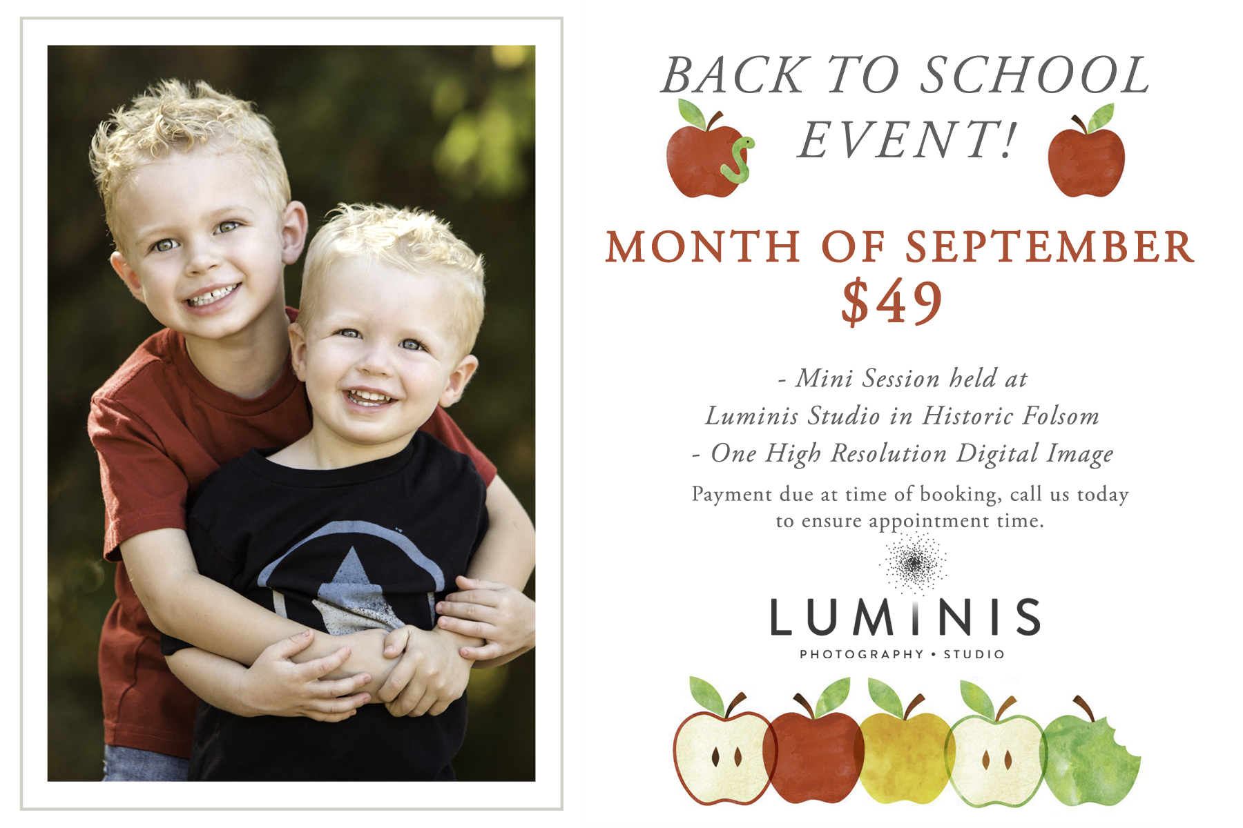 Luminis Photography Back to School Event