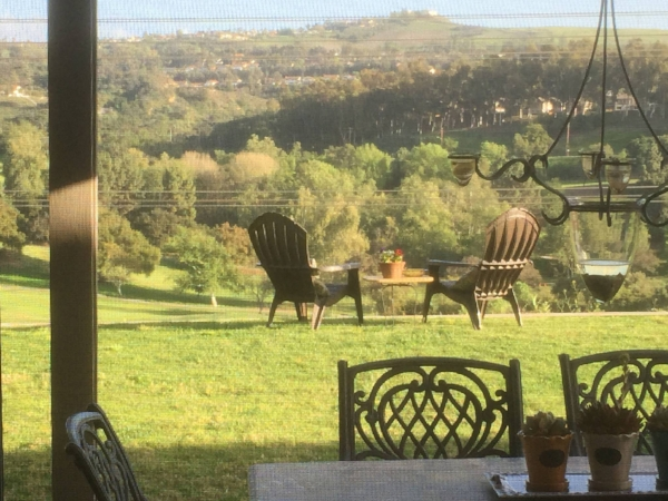 The view from my backyard with the 2 chairs that made others enjoy it to the fullest.