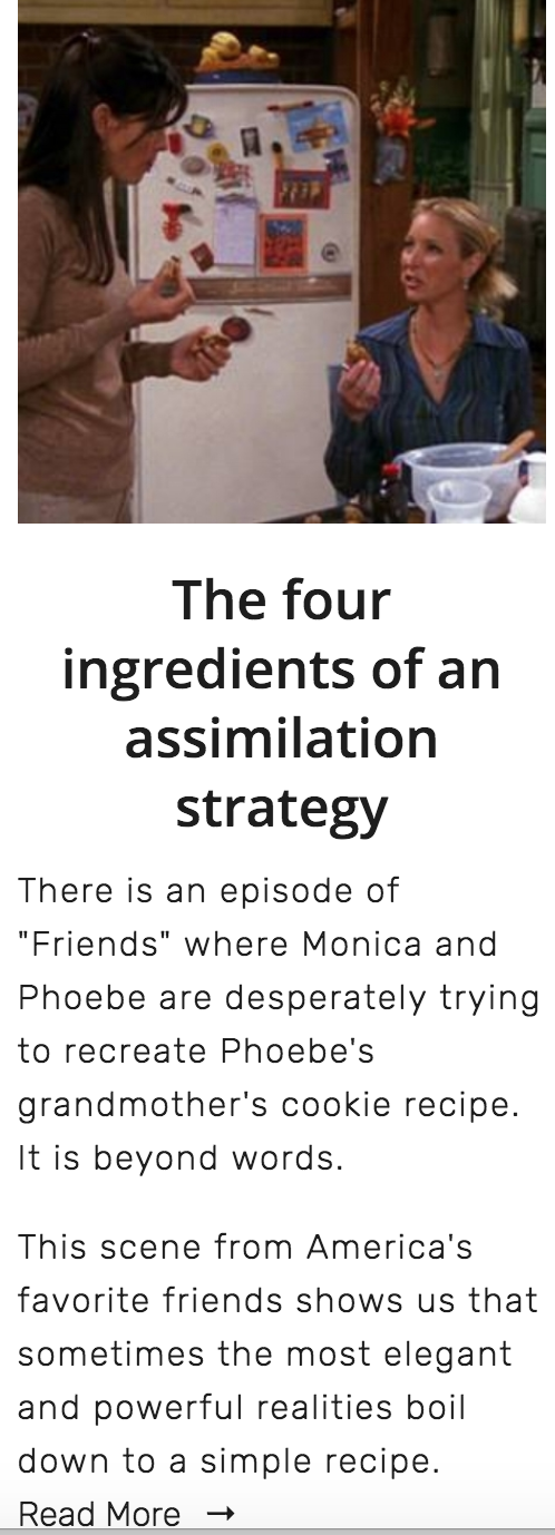 # 3 - Your assimilation recipe needs just 4 ingredients