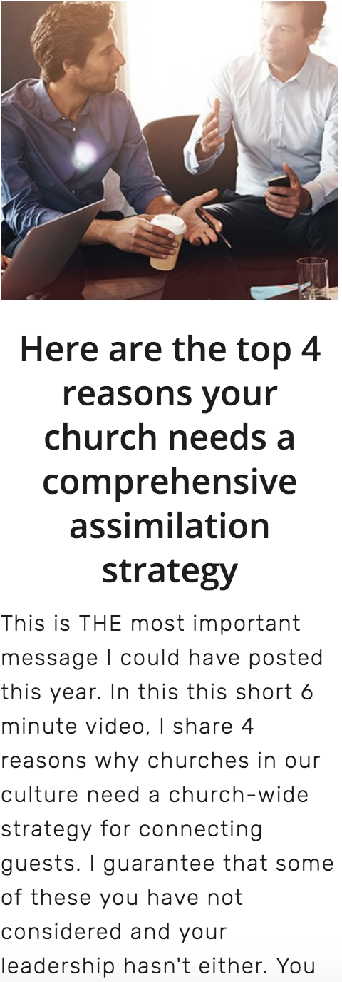 """# 4 - Use this to """"sell"""" your assimilation plan to your leadership."""