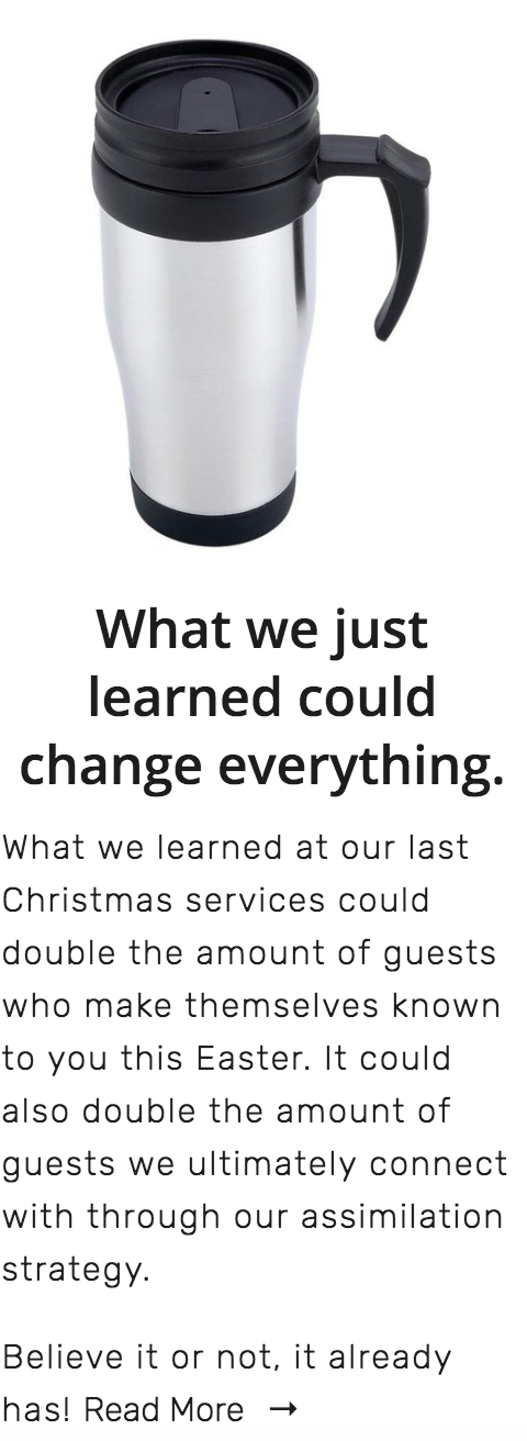 # 5 - This helped us double the # of guests whose contact info we received in 1 weekend & for the entire year.
