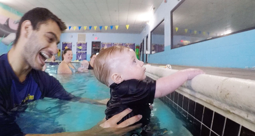 When I was 4 year old, they used to teach us how to hold our breath under water by just holding us under water! Lots of water up my nose that summer as a 4 year old…