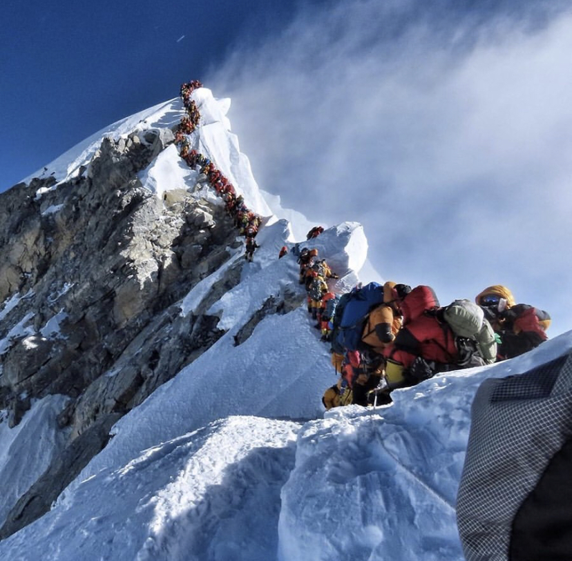 3. Crowds make the journey less enjoyable.   Recently, 200+ people arrived at the summit of Everest….at the same time! It made for an impossible situation up there, after a colossal effort by everyone to reach the top. Can you imagine planning for what happened in this photo? When Carly and I went on this hike, we encountered only 2 small groups of people and one dog in 3 hours of hiking. We were alone together most of the time, enjoying having nature to ourselves. Breaking down your connection classes into table groups instead of rows really makes the difference between a more connectable experience and a less enjoyable one.