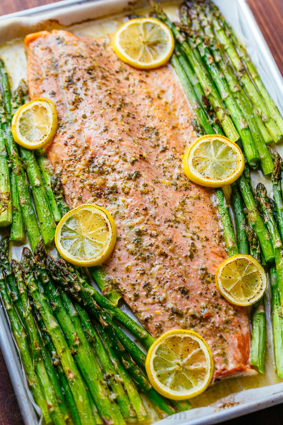 Salmon and Asparagus with Garlic Herb Butter