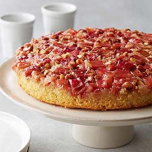 Flourless Rhubarb Almond Upside-Down cake