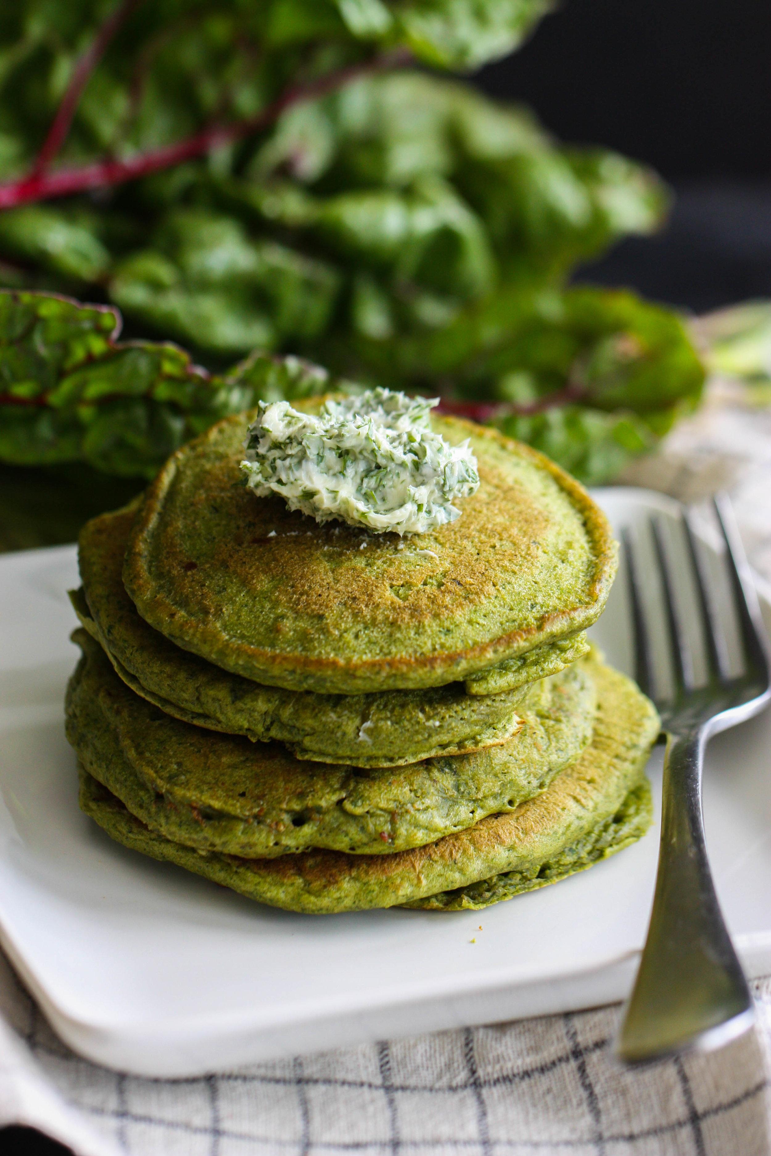 chard pancakes