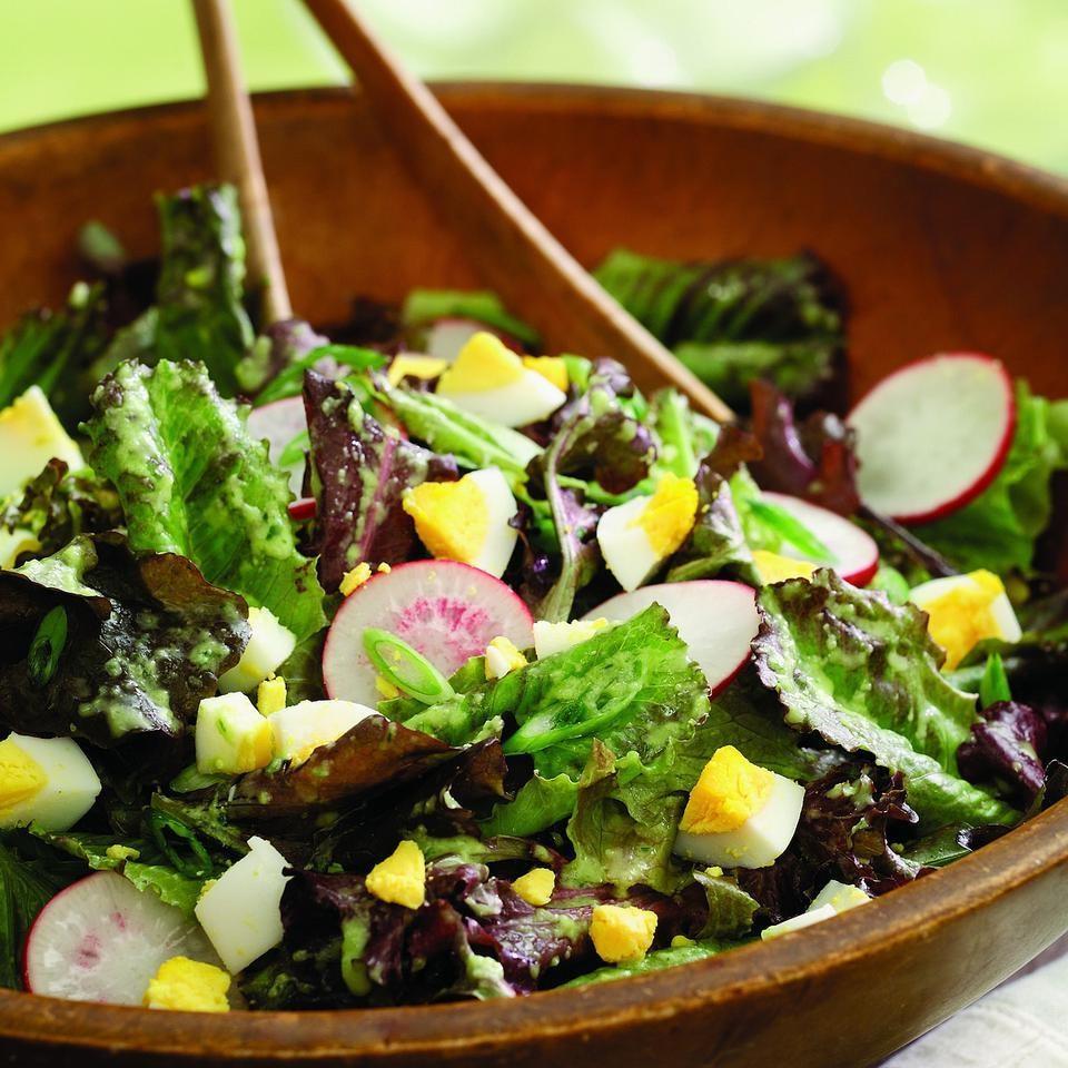 salad with cucumber vinaigrette