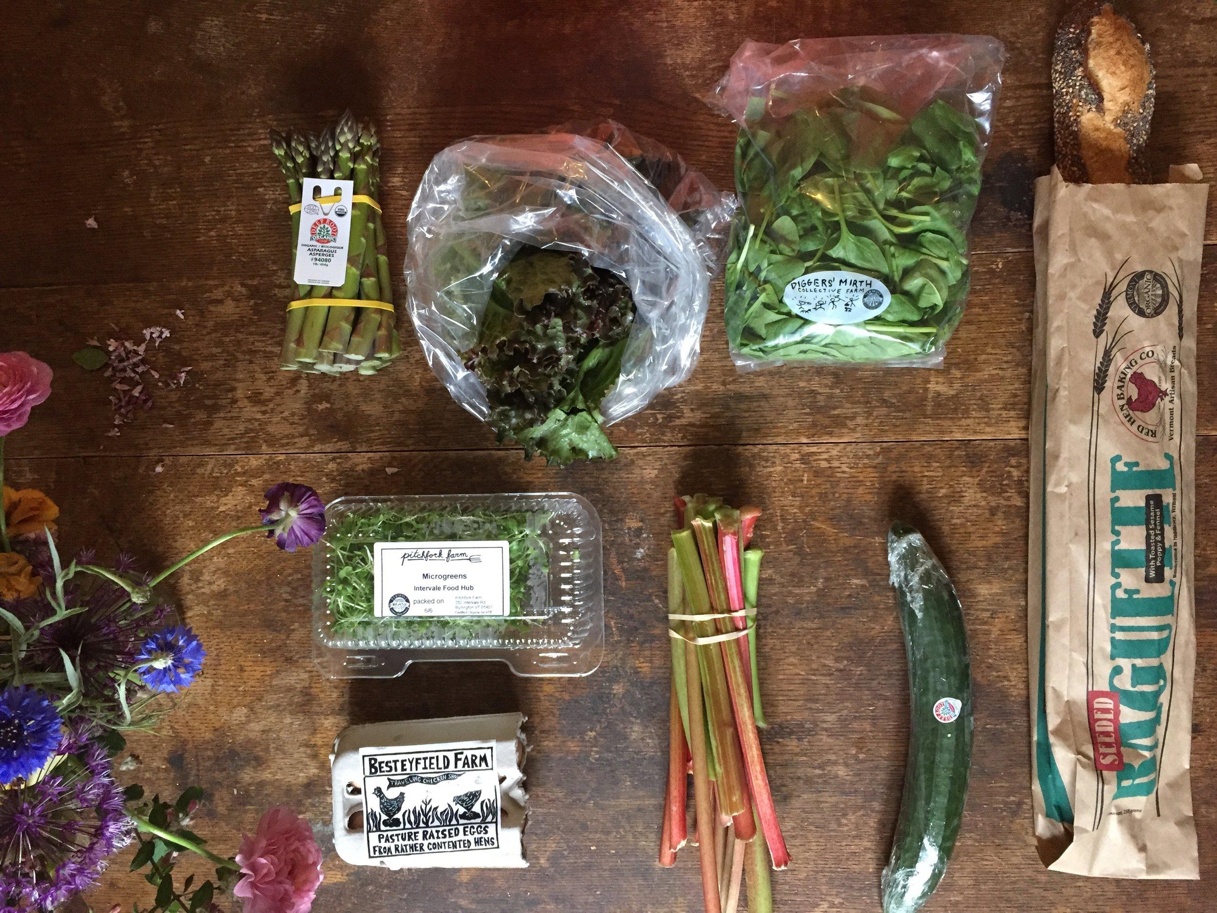 Intervale Food Hub Vermont Vegetable Summer 2017 Week #1