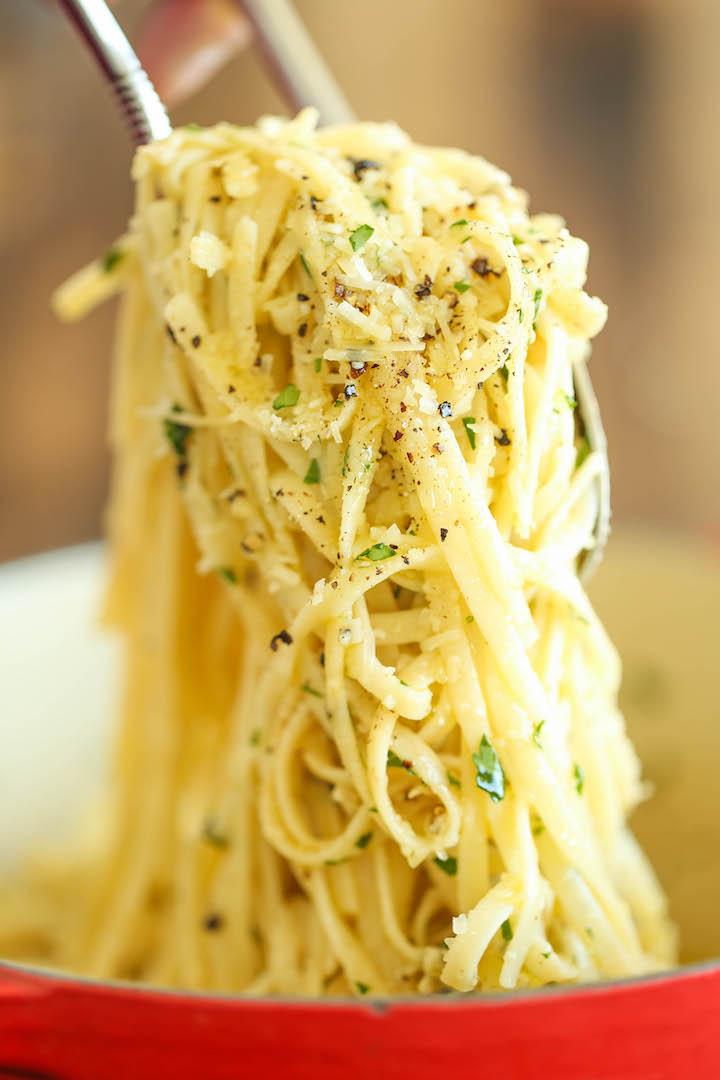 garlic parmesan spaghetti