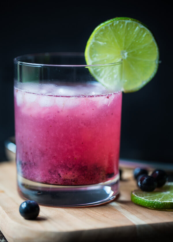blueberry mojito mocktail