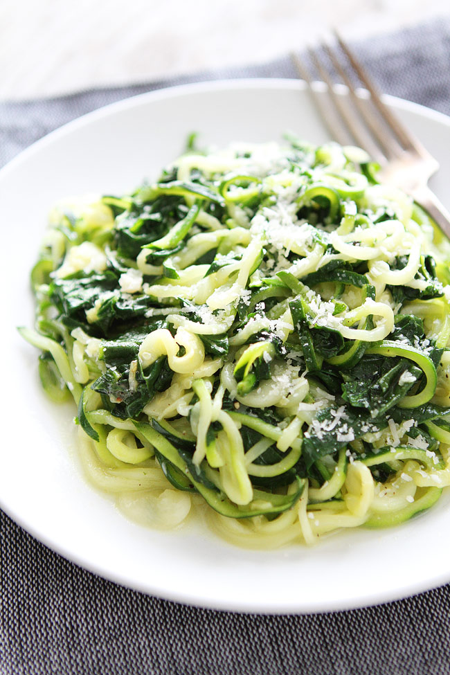 zucchini spinach noodles