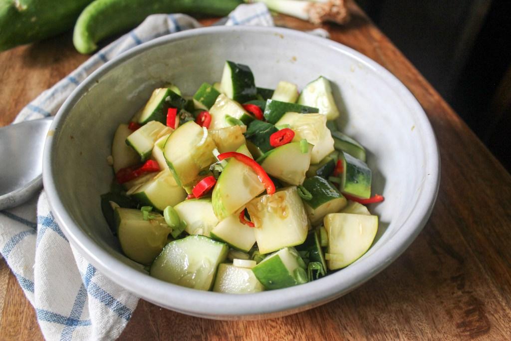Ginger lime cucumber salad