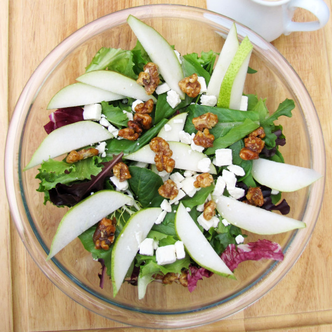 feta and pear salad