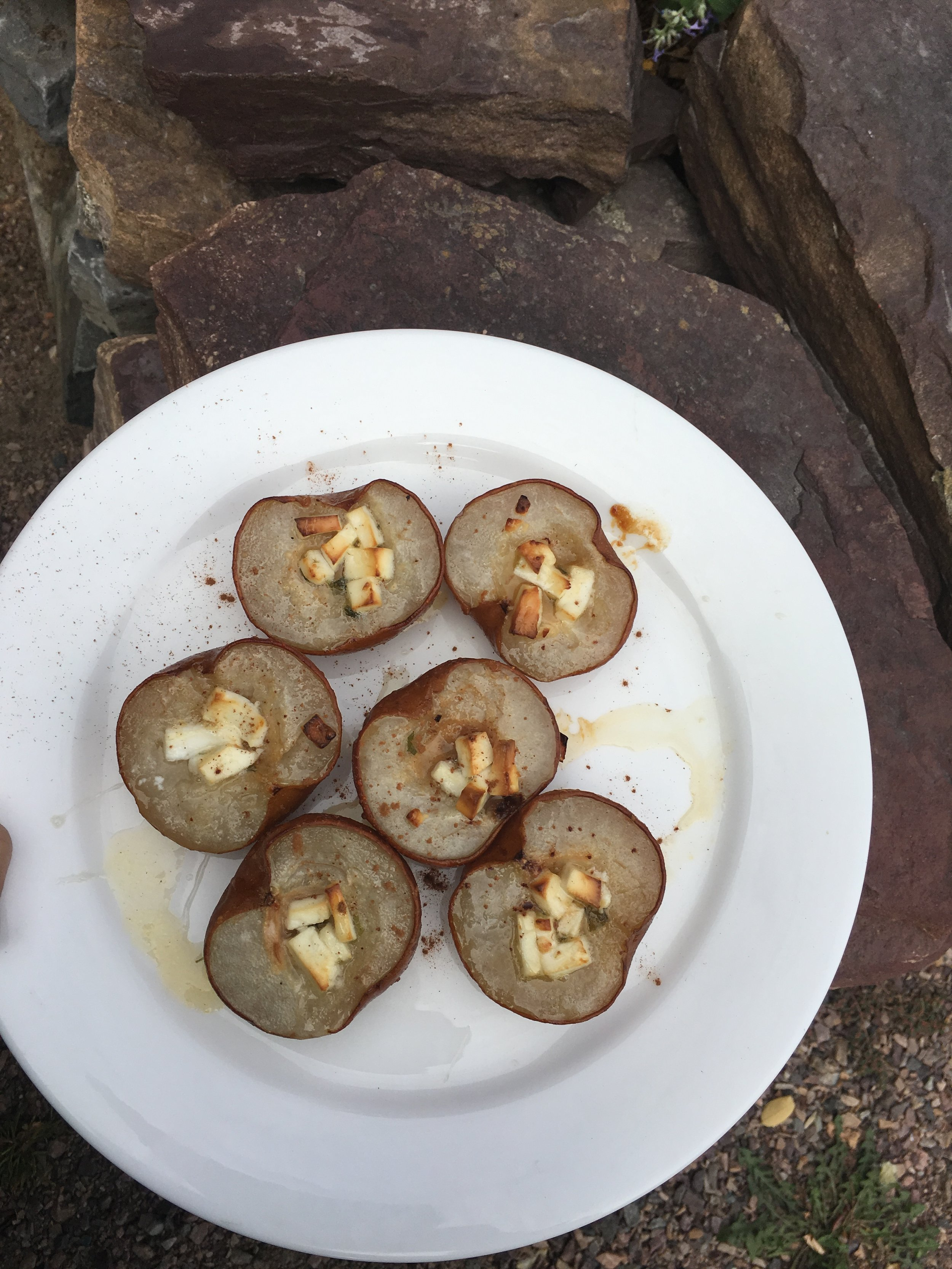 Baked Pears with Feta