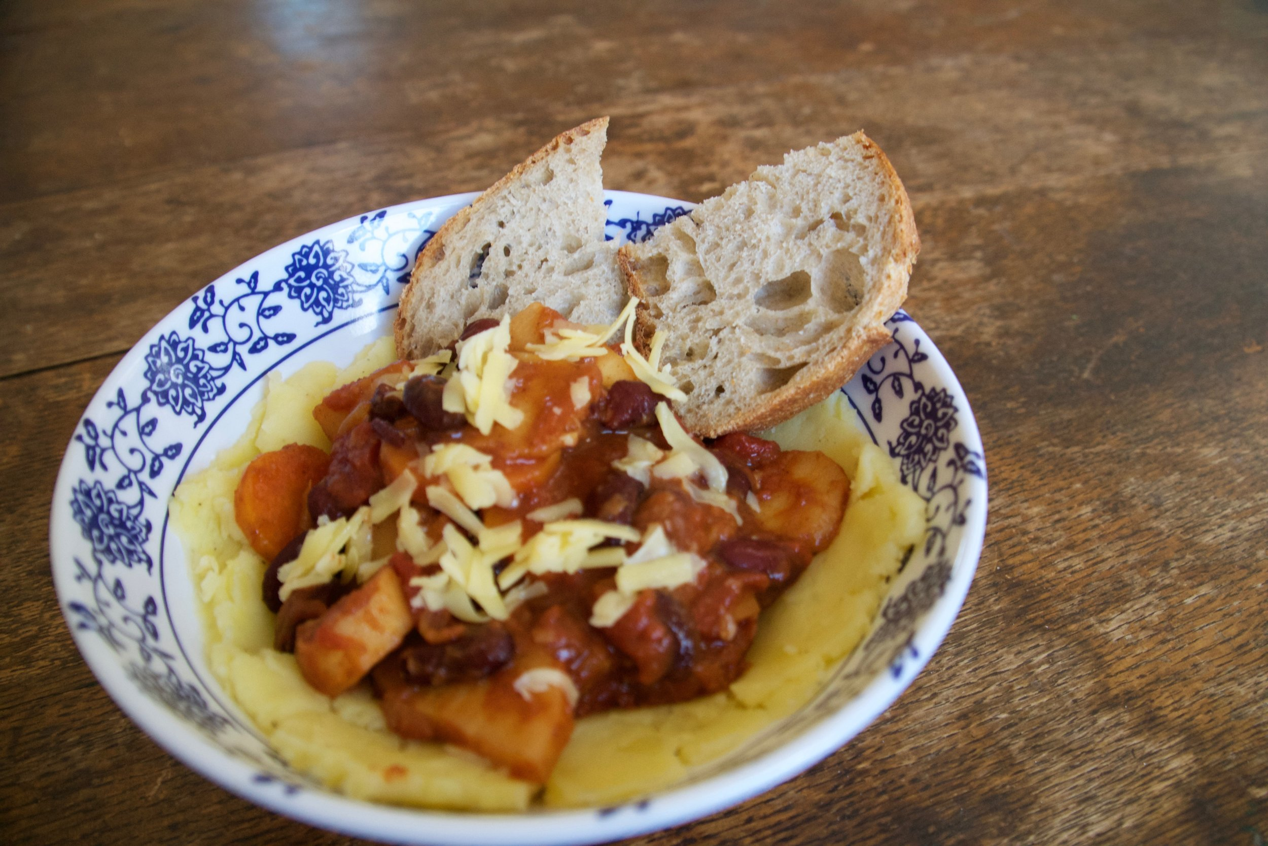 Parsnip and Carrot Chili with Beef or Vegetarian
