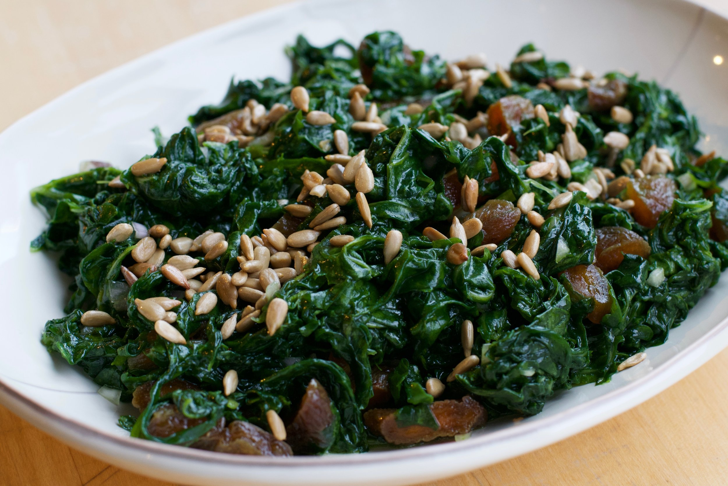 Kneaded kale salad